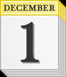 December 1 calendar page