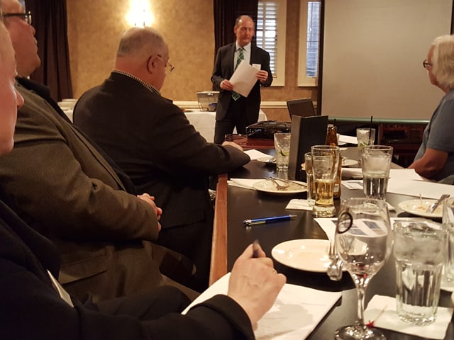 Attorney Paul Kenney presents