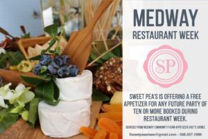 Sweet Peas Restaurant Week Offer